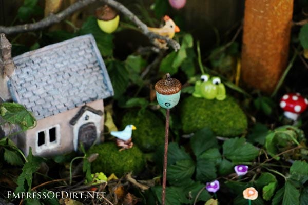 I M So Excited To Share How Make Fairy Garden Miniatures Out Of Polymer Clay And Nature S Bounty Show You Clean An Acorn Found In My Back Yard