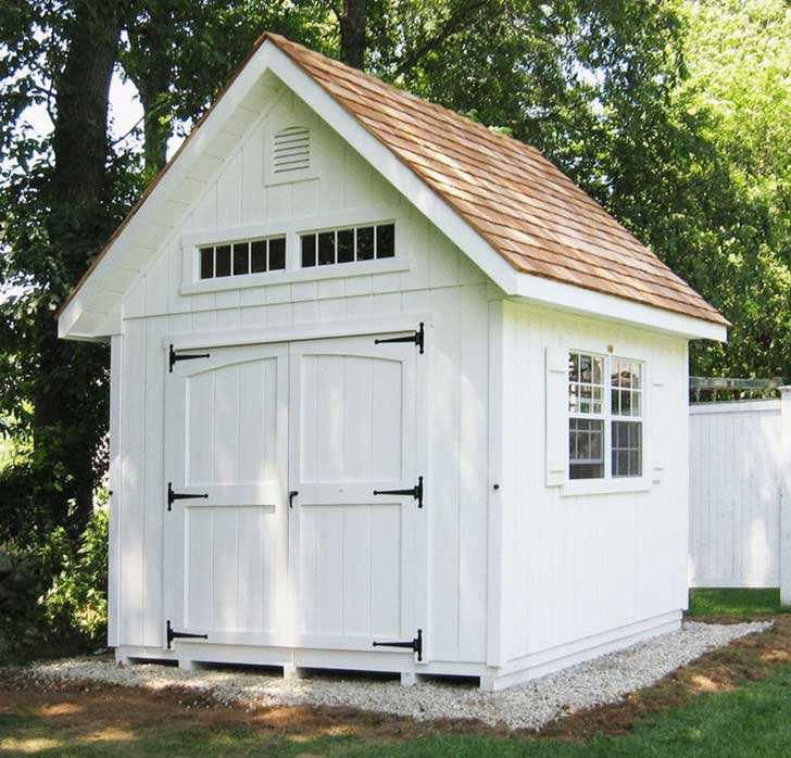 White garden shed by buildblueprint on etsy