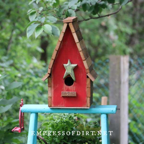 Bird House Small Birdhouse Garden Art Birdhouse Outdoor Birdhouse Whimsical Birdhouses Painted Birdhouse Unique Birdhouses