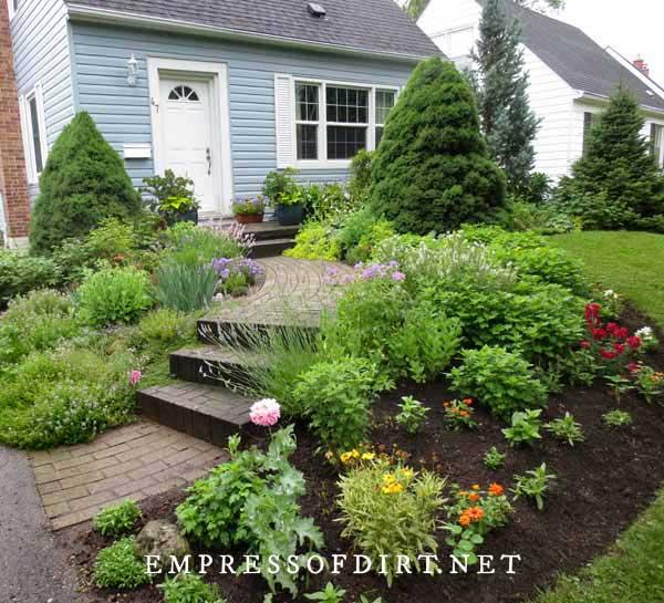 Welcoming Front Walkway with Garden