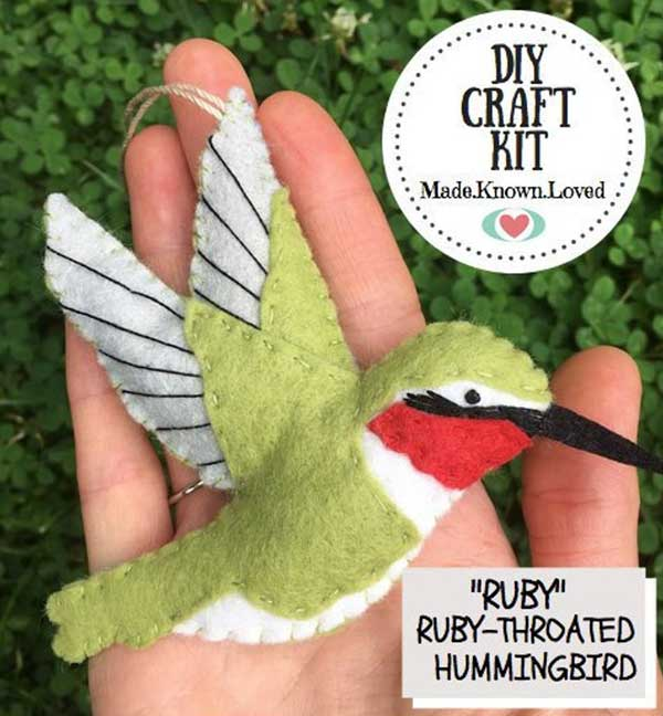 Stuffed hummingbird kit