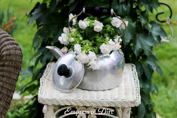 Old Kettle Flower Pot