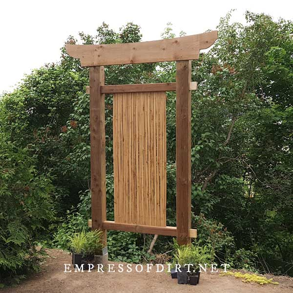 Freestanding Bamboo Screen