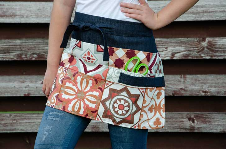 Garden apron by dillhandmade on etsy