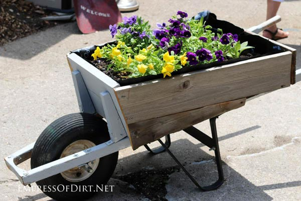 Homemade Wooden Wheelbarrow