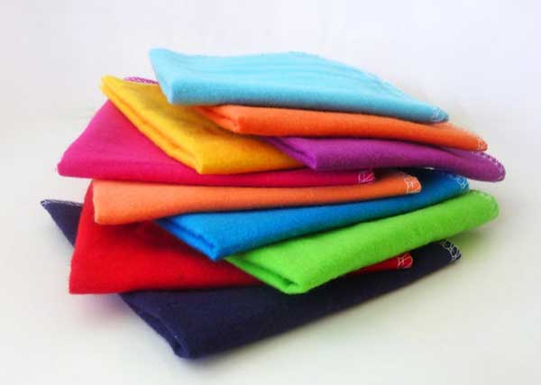Colorful cloth napkins.