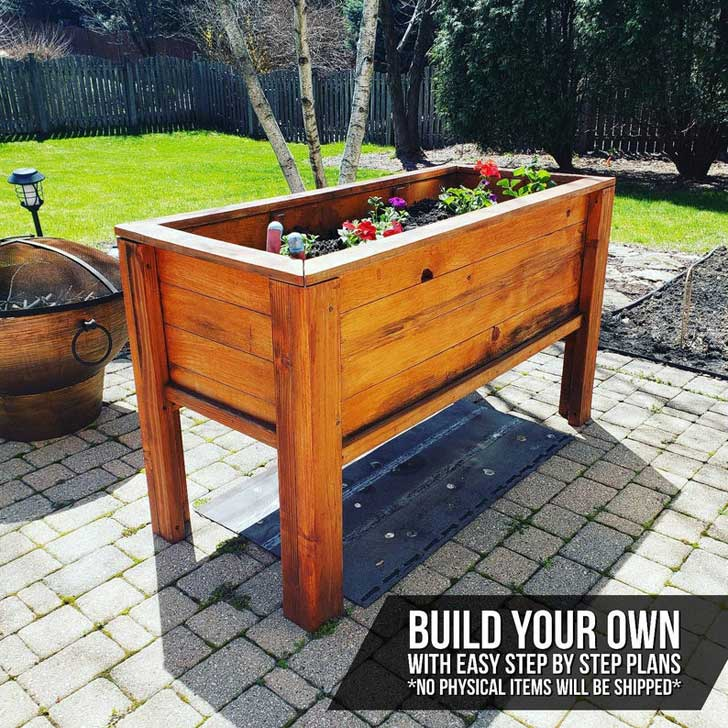 Tall raised bed by wolfspiritwoodwork on etsy