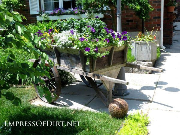 Antique Cart with Flowers