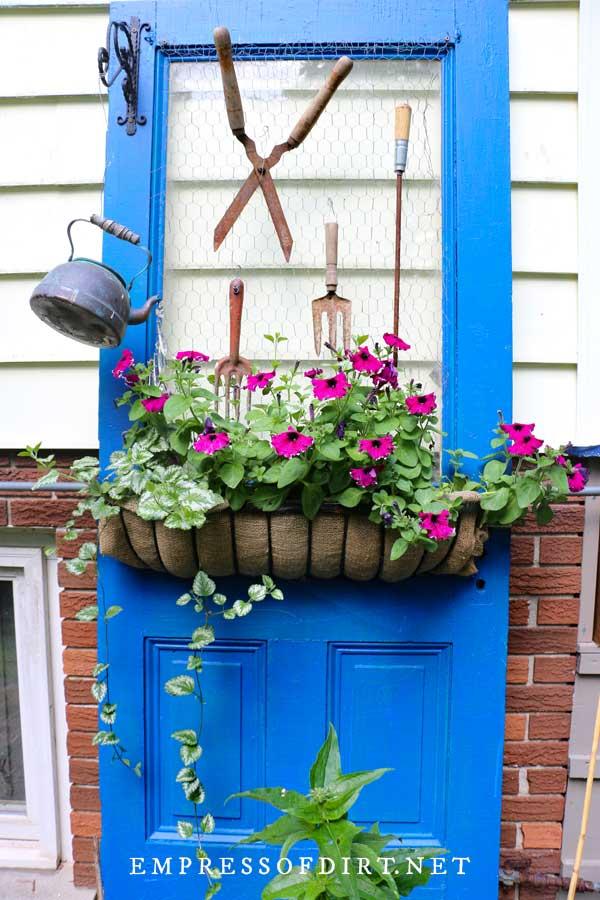 Blue Door Plant Stand