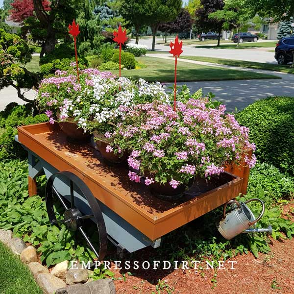 Front Yard Flower Cart