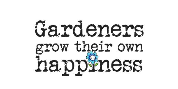 Gardeners grow their own happiness t-shirt by Empress of Dirt