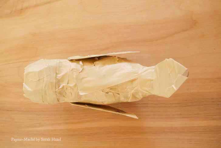 Papier-maché robin craft project by Sarah Hand