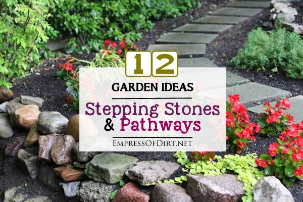 Here's a bunch of creative ideas for designing garden paths and walkways plus DIY stepping stone tutorials. Whether it's stone, brick, hypertufa, or concrete pavers, there's lots of things you can do with simple materials for a great look
