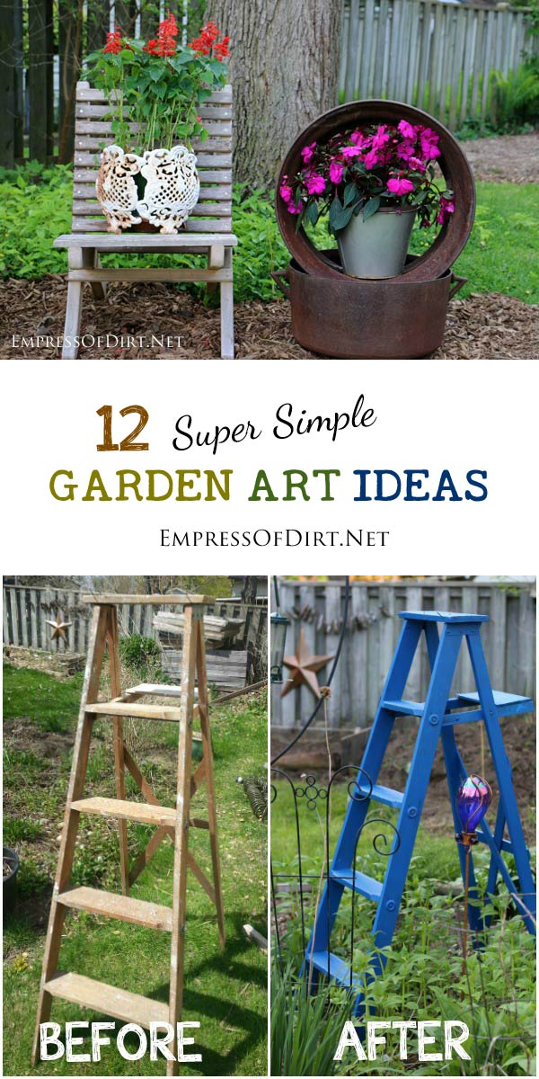 Sometimes you just want to dial down the DIY and grab some simple, frugal, creative ideas to spice up your garden. See what you can do with old junk, thrift shop finds, and curbside trash items.