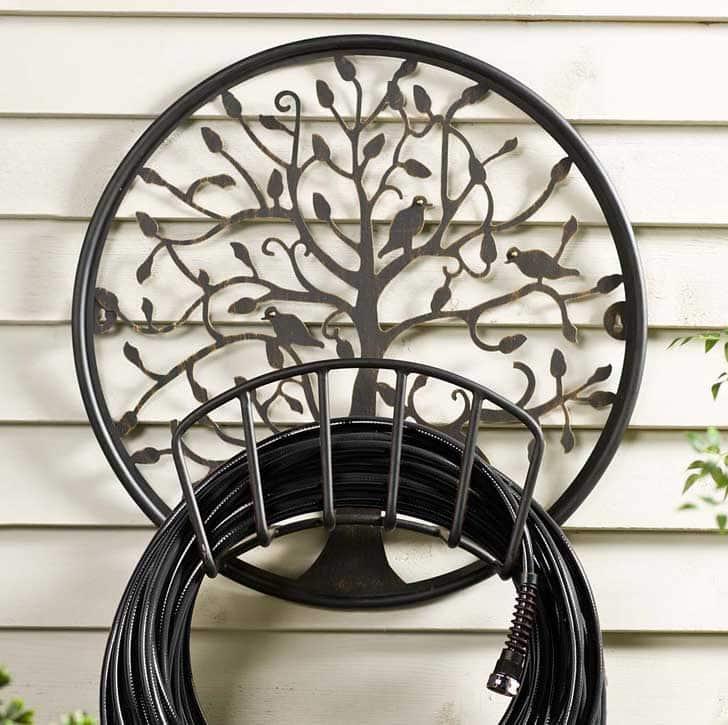 Tree of Life Metal Hose Holder