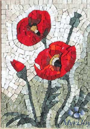 Poppy mosaic kit