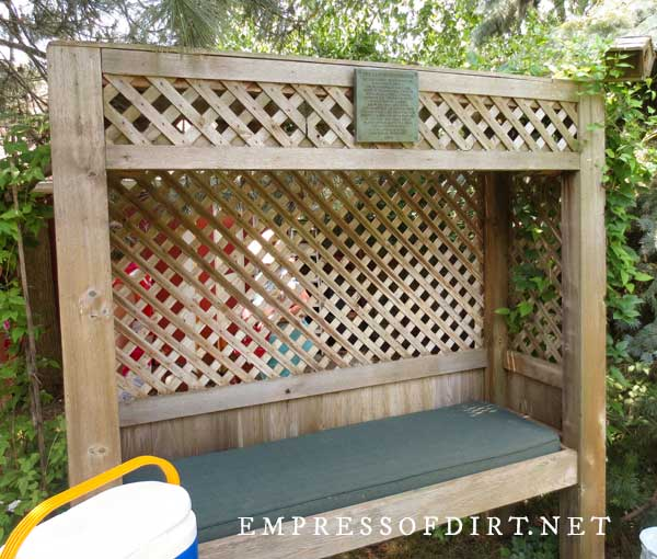 Lattice Framed Bench