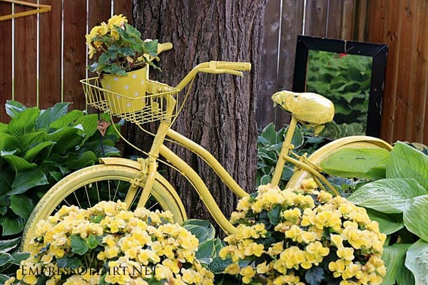 Yellow Bike with Yellow Flowers