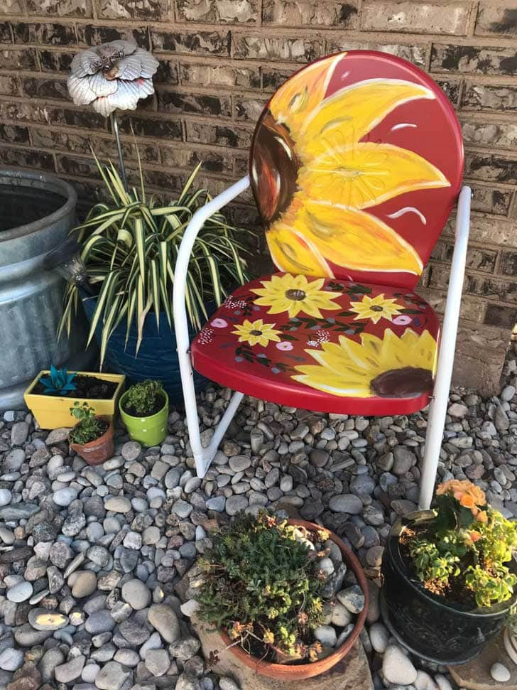 Painted vintage chair by thevintagefarmwtx on etsy