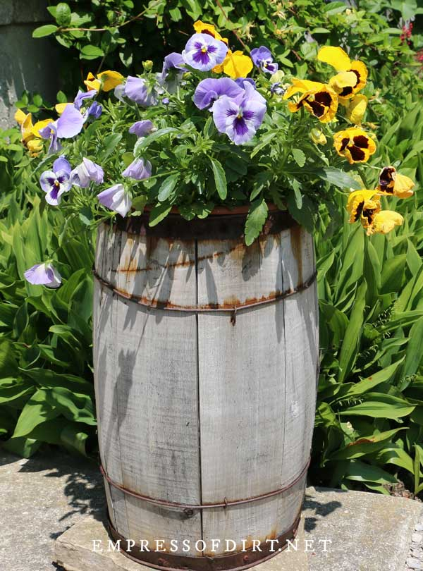Tall Wood Barrel