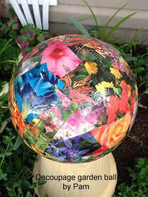 Garden Art Balls (spheres, Globes) Can Be Made From Various Repurposed  Items Such