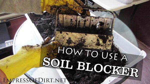 How to use a soil blocker for seed starting