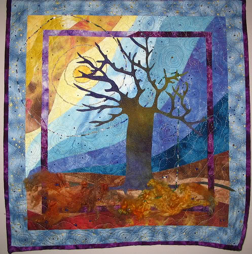 Tree of Life -original handmade quilt by Melissa J. Will using hand-dyed fabrics | Empressofdirt.net