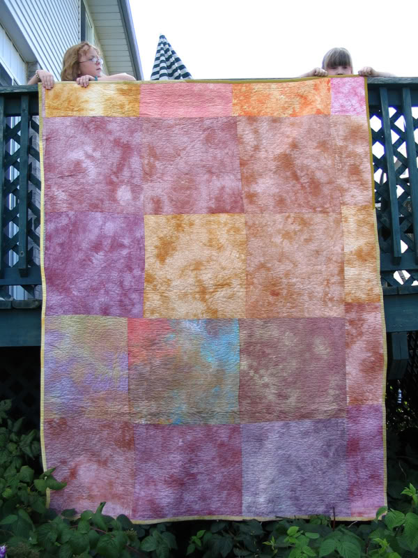 Crazy log cabin - original handmade quilt by Melissa J. Will using hand-dyed fabrics | Empressofdirt.net