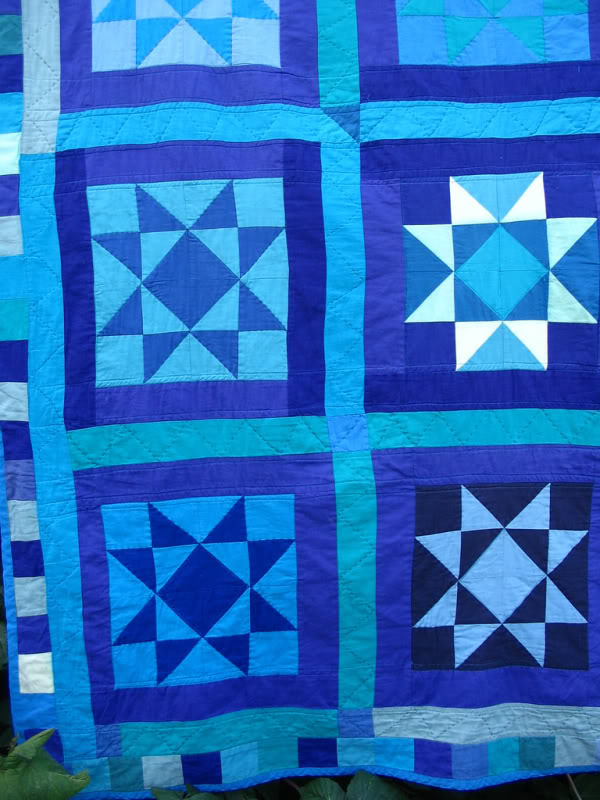 Detail of Primitive Amish-style quilt by Melissa J. Will   Empressofdirt.net