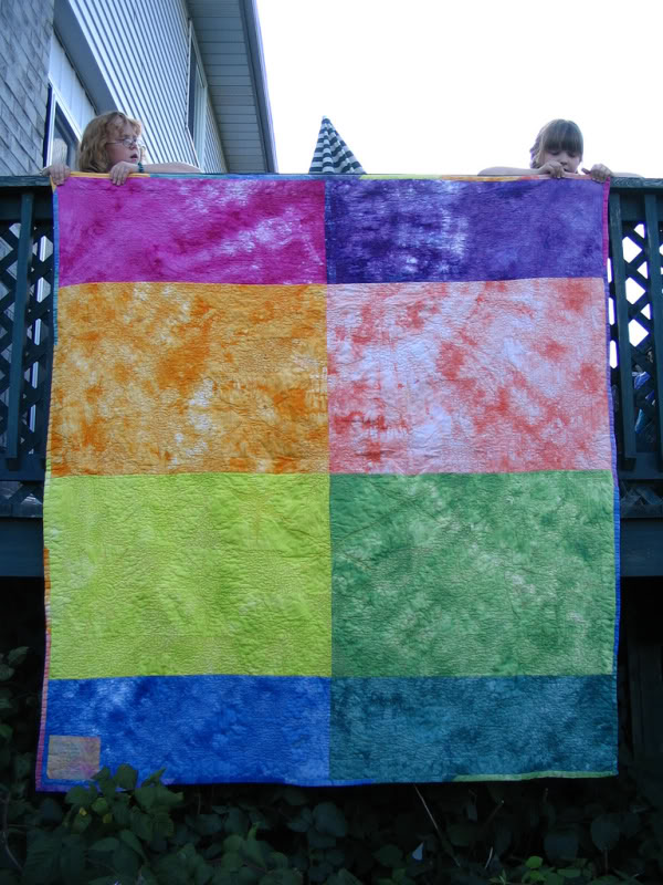 Fire and Ice - original handmade quilt by Melissa J. Will using hand-dyed fabrics | Empressofdirt.net