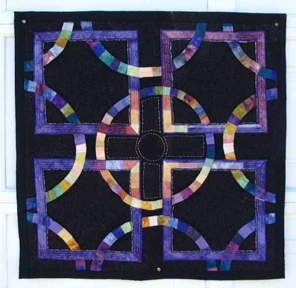 Wallhanging -original handmade quilt by Melissa J. Will using hand-dyed fabrics | Empressofdirt.net