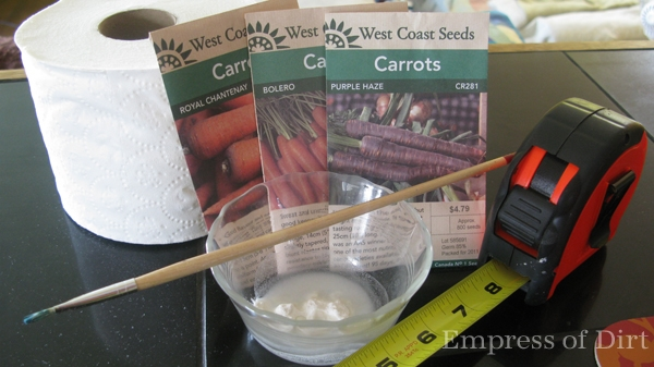 How to make seed tapes for planting tiny seeds