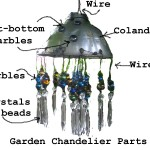 Make A Garden Chandelier. Bring Bling To The Garden.