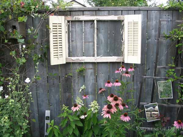 Old Window Frame With Shutters Empress Of Dirt