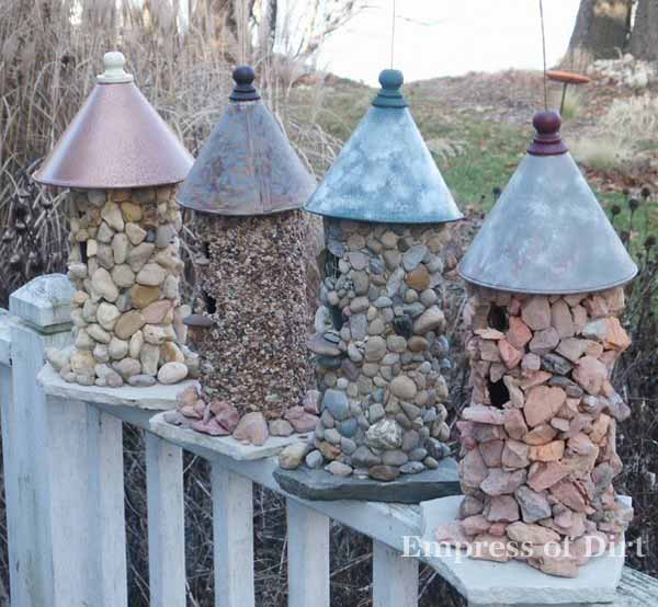 How to Make a Stone Birdhouse 600 x 554