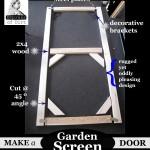 Make A Garden Screen Door