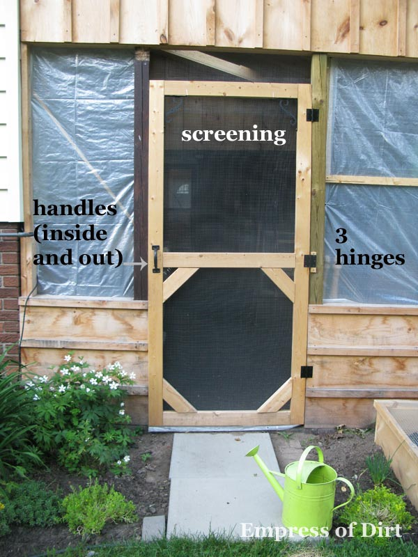 Homemade screen door for patio | empressofdirt.net