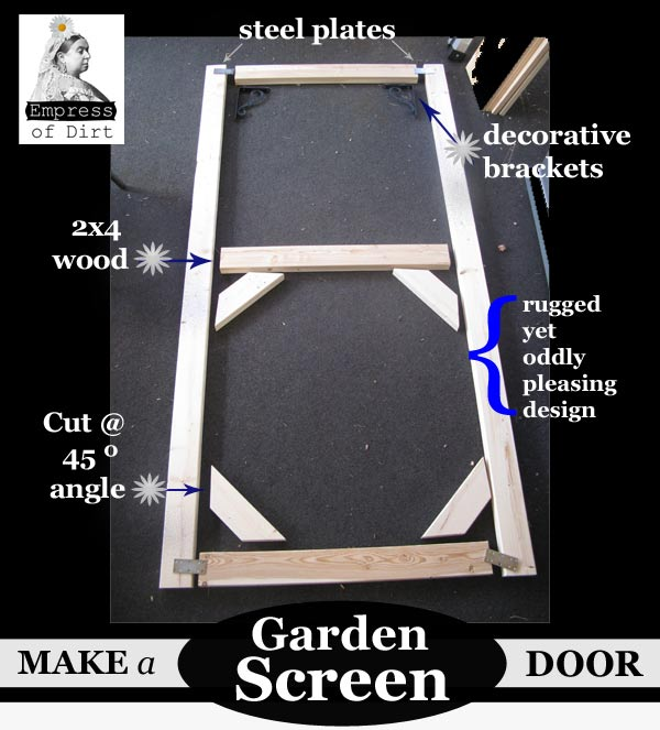 How to make a DIY Garden Screen Door | empressofdirt.net