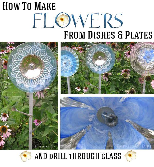 How to make flowers from dishes and plates.