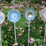 How To Make Glass Garden Art Flowers. And Drill Through Glass.