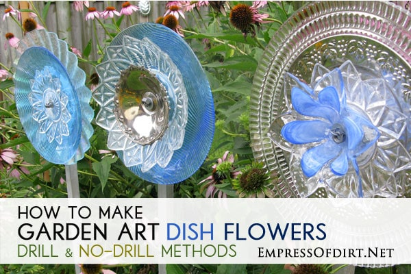 how to make glass garden art flowers and drill through