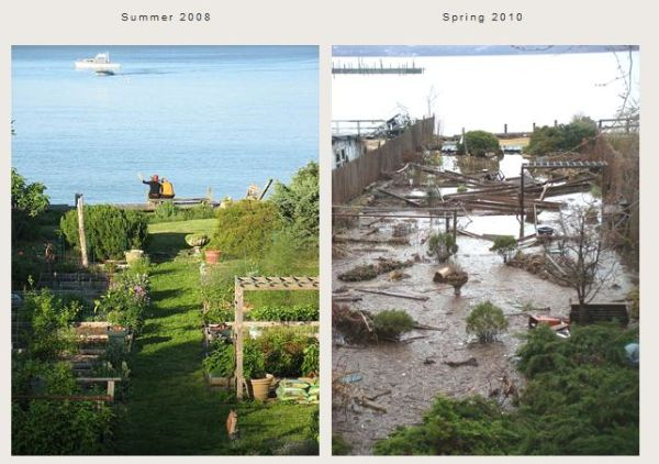 Joan Gussow Before After Flood