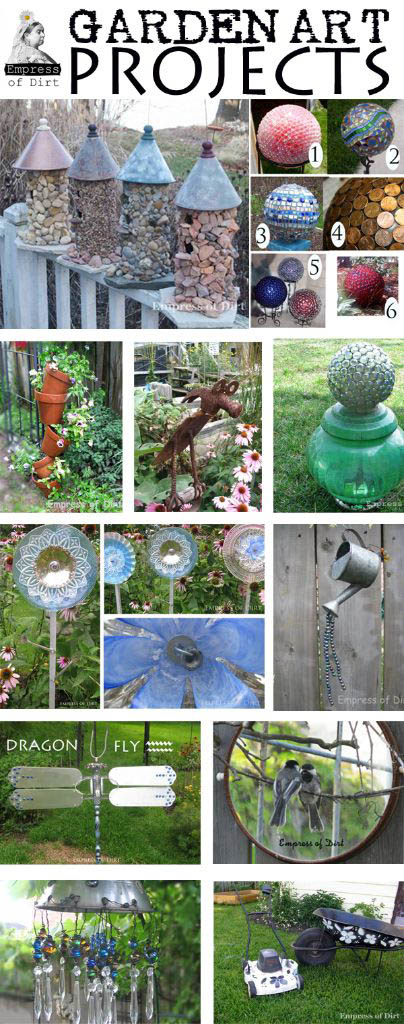 Creative & Frugal Garden Art Project Tutorials