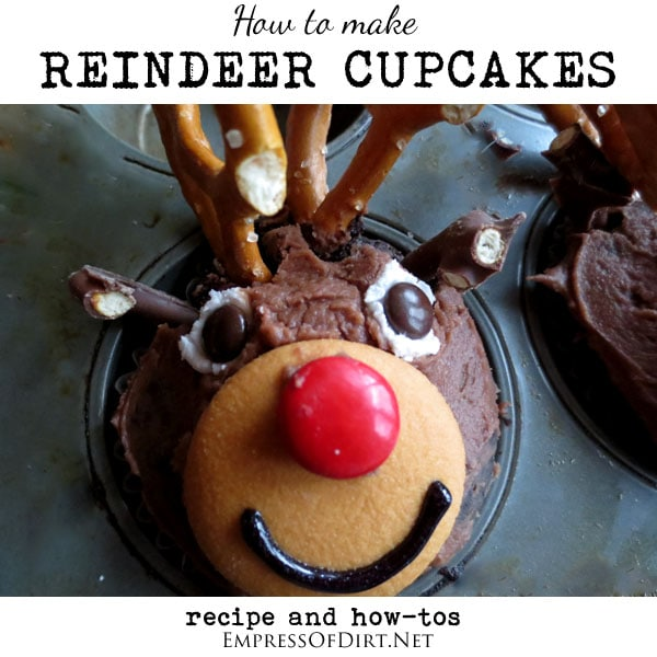 How to make reindeer cupcakes - recipe and how-tos at empressfodirt.net