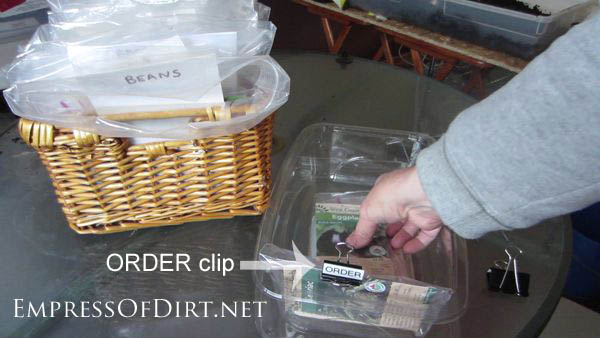 Simple seed storage and organization for gardeners
