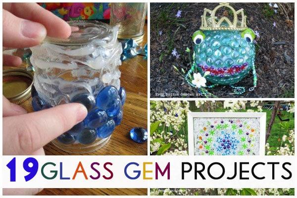 Glass Gem Garden Art & Craft Ideas *19 Projects* - Empress of Dirt