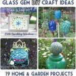 Glass Gem Garden Art & Craft Ideas *19 Projects*