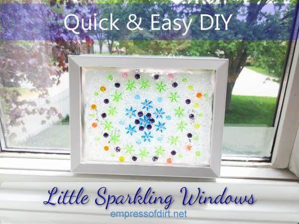 Little Sparkling Window DIY - free tutorial