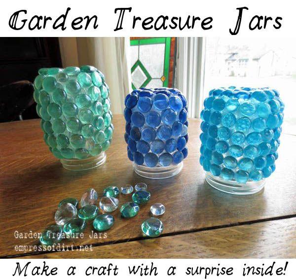 free garden craft ideas photograph glass gem garden art