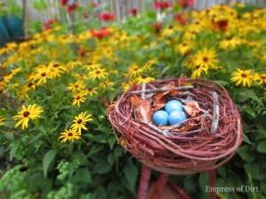 Turn a wreath into a nest